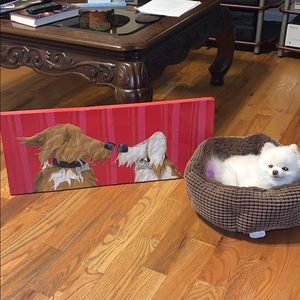 AUTH Robin Anne Cooper Canvas Painting Dogs $500